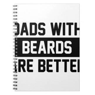 Dads with Beards Spiral Notebook