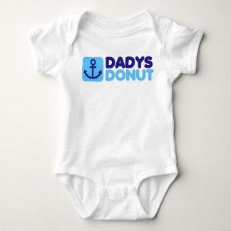 Dadys Donut baby creeper blue