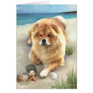 DAEJA AT THE BEACH  heARTdog chow Card