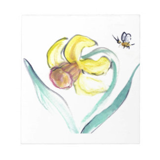 Daffodil and Buzzin Bee, Sumi-e Notepad
