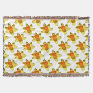 Daffodil (Background Removed) Throw Blanket