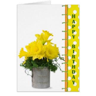 Daffodil Birthday Bouquet Card