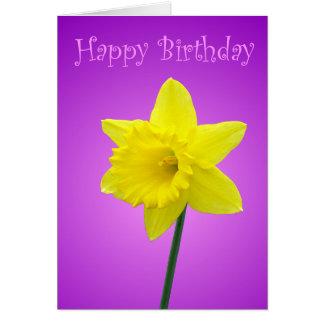 Daffodil Birthday Card