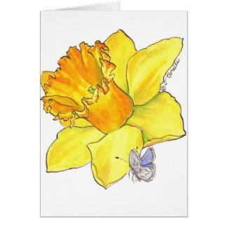 Daffodil blank card