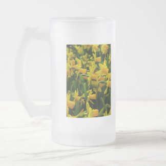 Daffodil Family Frosted Glass Beer Mug
