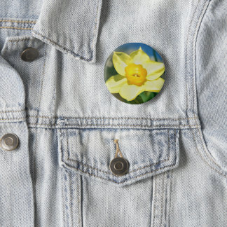 Daffodil Flower Badge 2 Inch Round Button