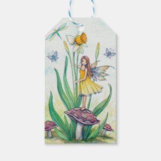 Daffodil Flower Fairy Fantasy Art Gift Tags Pack Of Gift Tags