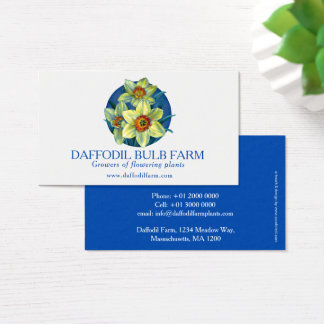 Daffodil flower farm plant suppliers business card