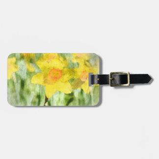 Daffodil in Spring Luggage Tag