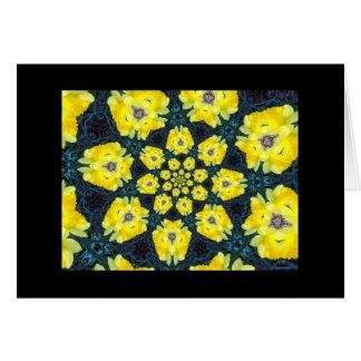 Daffodil Kaleidoscope Blank Greeting Card
