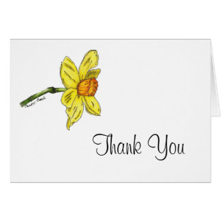 Daffodil (Narcissus) Thank You Card