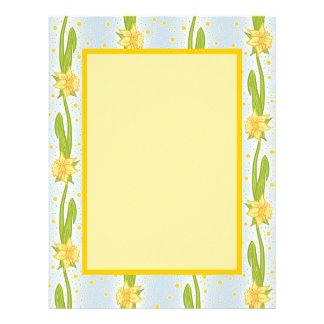 Daffodil Pattern Letterhead