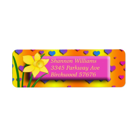 Daffodil Return Address Label