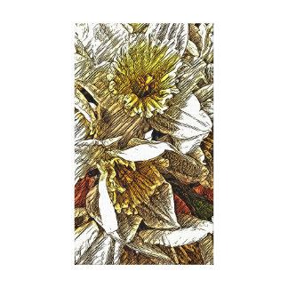 Daffodil stretched canvas