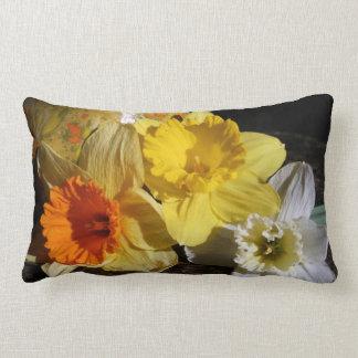 Daffodil Threesome Lumbar Pillow
