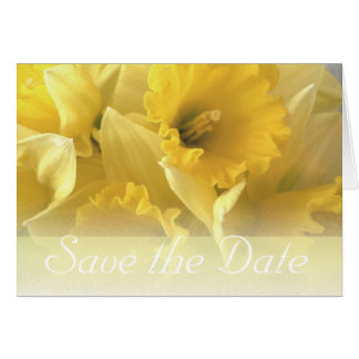 daffodil wedding announcement