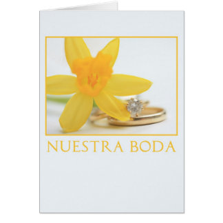 Daffodil wedding invitation spanish