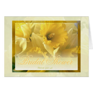 Daffodils 1 bridal shower invitation