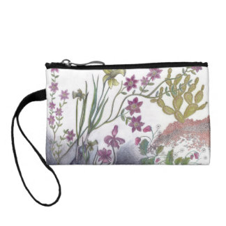 Daffodils and cactus cosmetic bag
