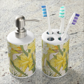 Daffodils and Jonquils Springtime Bathroom Set