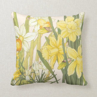 Daffodils and Jonquils Springtime Pillow