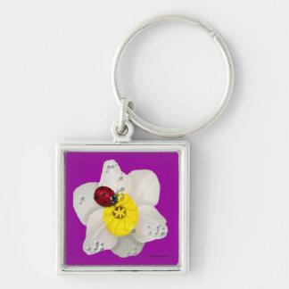 Daffodils and Ladybugs Keychain