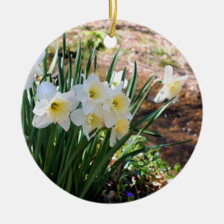 Daffodils By Brook Flower Ornament
