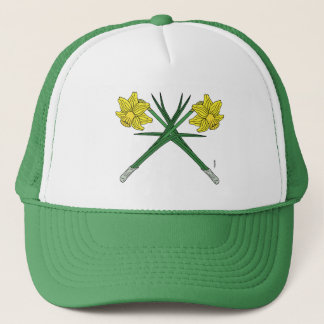 Daffodils Crossed Trucker Hat