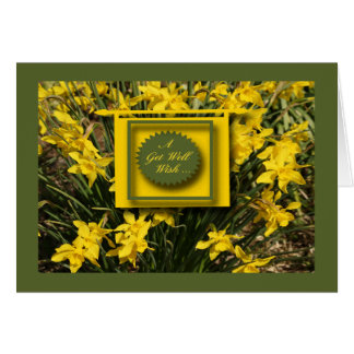 Daffodils  Get Well  Card...With a Get Well Wish Card