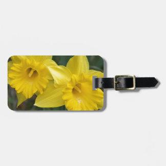 daffodils luggage tag