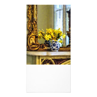 Daffodils on Mantelpiece Picture Card