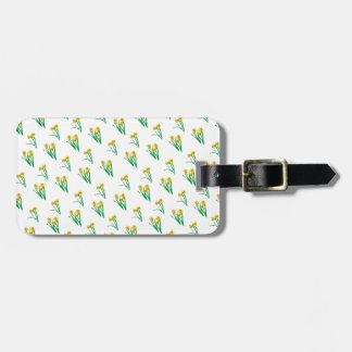 Daffodils Pattern Bag Tag