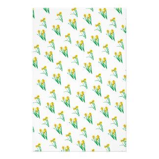 Daffodils Pattern Personalized Stationery