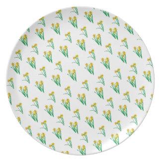 Daffodils Pattern Plate