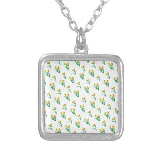Daffodils Pattern Silver Plated Necklace