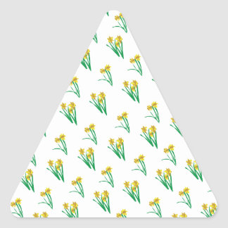 Daffodils Pattern Triangle Sticker
