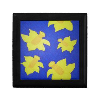 Daffodils Pop Art Blue Gift Box