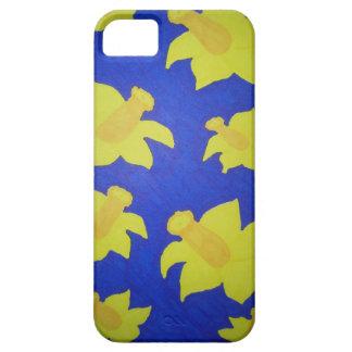 Daffodils Pop Art Blue iPhone 5 Cases