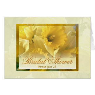 Daffodils shower invitation