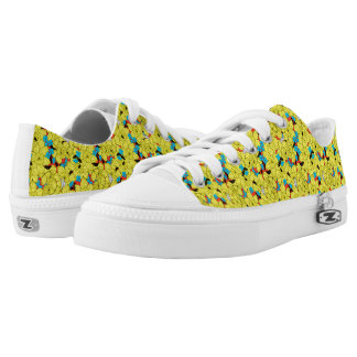 Daffodils spring floral pattern Low-Top sneakers