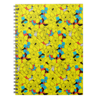 Daffodils spring floral pattern notebook