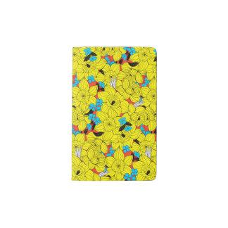 Daffodils spring floral pattern pocket moleskine notebook