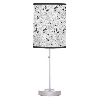 Daffodils spring floral pattern table lamp