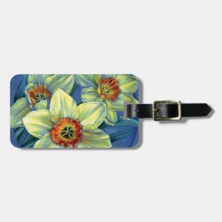 'Daffodils – the joys of spring' luggage tag