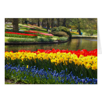 Daffodils,Tulip, Hyacinth Personalized Easter card