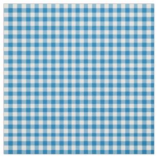 Daffy-downDillies Blue White Check Gingham Pattern Fabric