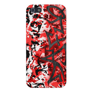 Dafuq Street Red On Red Camo iPhone 5 Case. iPhone 5 Case