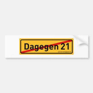 dagegen21.de autosticker bumper sticker