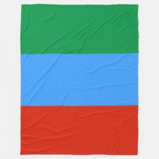Dagestan Flag Fleece Blanket