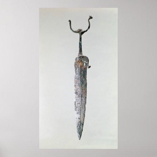 Dagger, Halstatt Culture, c.750-450 BC Poster